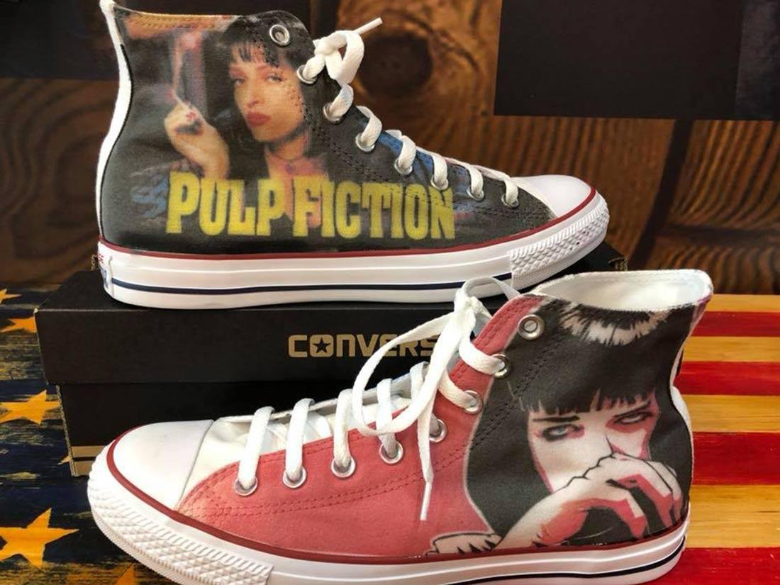 Zapatillas personalizadas Converse Pulp fiction