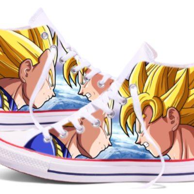 Zapatillas personalizadas Converse Goku vs Vegeta