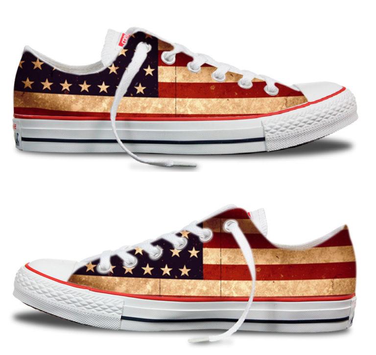 Zapatillas personalizadas Converse America Flag