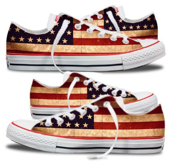 Zapatillas personalizadas Converse American Flag
