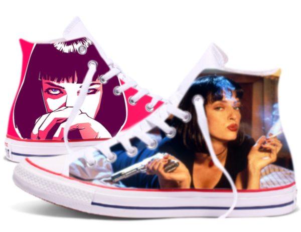 Zapatillas personalizadas Converse Mia Wallace Pulp Fiction