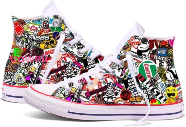 Zapatillas personalizadas Converse Stickers
