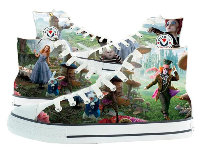 Zapatillas victoria personalizadas Alicia Wonderland