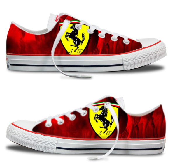 Zapatillas Victoria personalizadas Ferrari